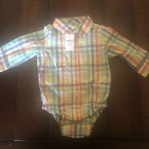 Gap baby boy button up dress shirt 3-6 month NWT!